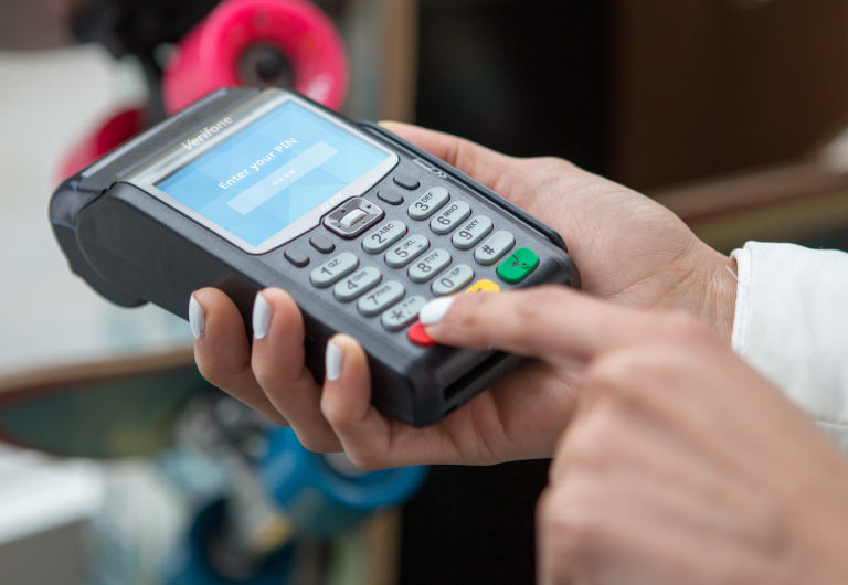 What is the equipment required for card payments?
